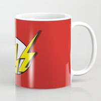 the flash Mugs featuring Flash by Msimioni