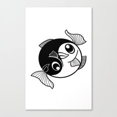 Fishy Yin Yang Canvas Print