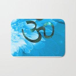 Om Shanti (blue-green) Bath Mat
