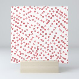 red dots Mini Art Print