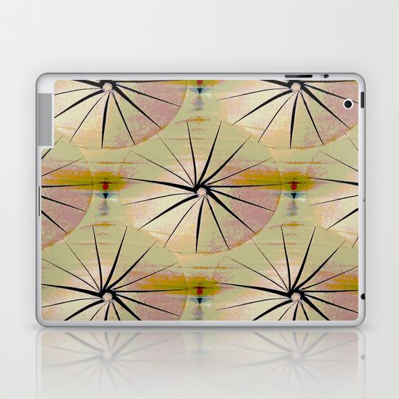Paper Parasols (Pink Blush) Laptop & iPad Skin by artisimo (LSK7741493) photo
