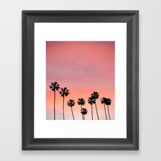 Blushing Palms Framed Art Print