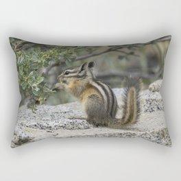 Chipmunk Feeding Rectangular Pillow