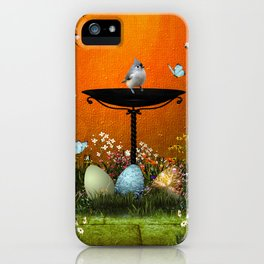 Easter eggs in the grass iPhone Case