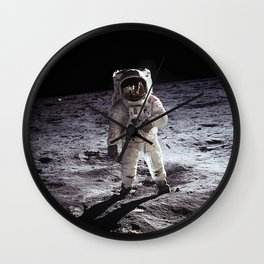 Buzz Aldrin on the Moon Wall Clock