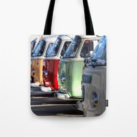 hippy Tote Bags featuring Hippy Vans by Barbo's Art