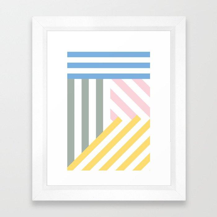 Summer stripes Framed Art Print