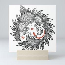 Ganesha Lineart Black Mini Art Print