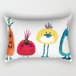 Birds in a Row Rectangular Pillow