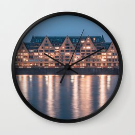Architecture at night Wall Clock