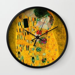 Gustav Klimt The Kiss Painting Wall Clock