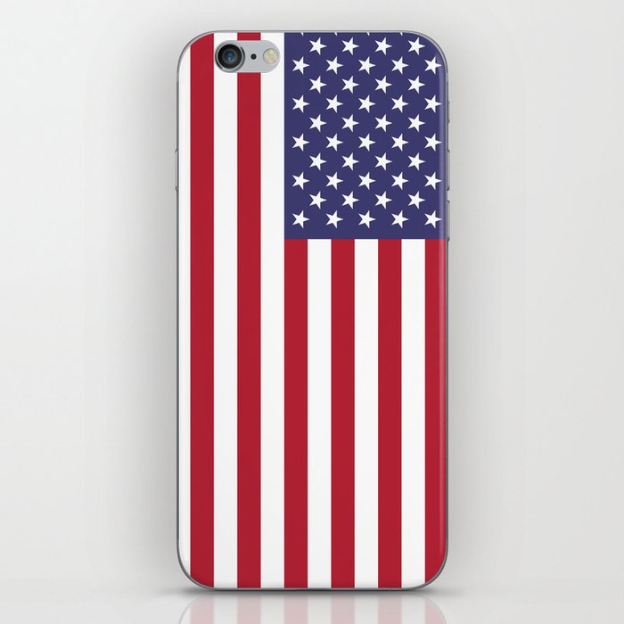 USA flag - Hi Def Authentic color & scale image iPhone Skin