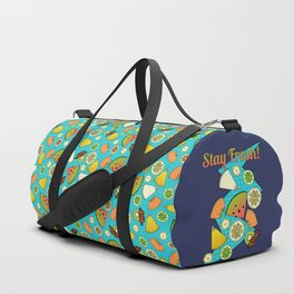 Tropical Fruit Pattern Duffle Bag