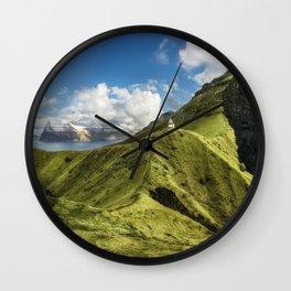 Kalsoy panorama Wall Clock