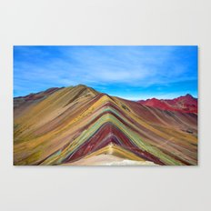Mountain Colored Canvas Print
