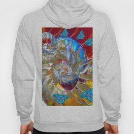 SURREAL MODERN ART BLUE BUTTERFLIES ABSTRACT Hoody