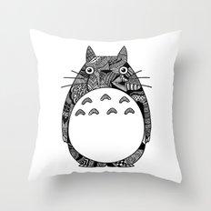 Ghibli Zentangle Throw Pillow