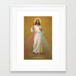 Divine Mercy - Divina Misericordia Framed Art Print