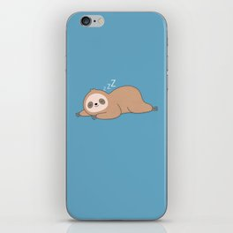 Kawaii Cute Lazy Sloth iPhone Skin