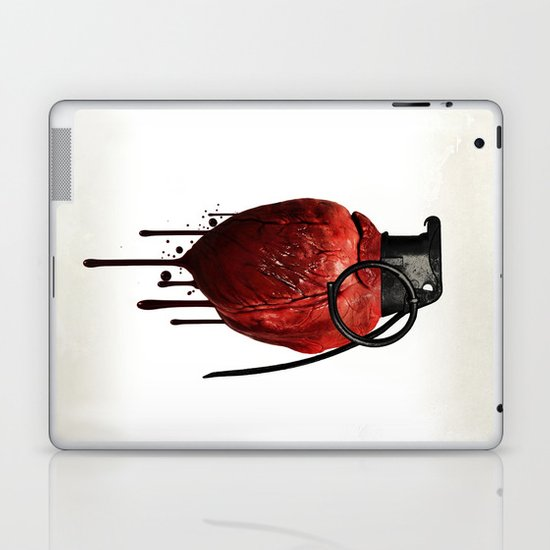 Heart Grenade Laptop & iPad Skin