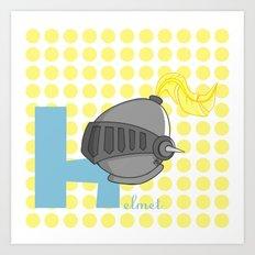 h for helmet Art Print