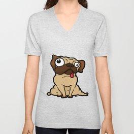 Dopey Pug Unisex V-Neck