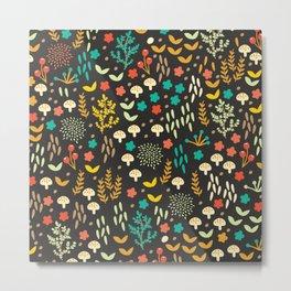 Fall Floral Field Metal Print