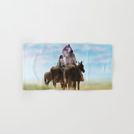 Cheyenne Warriors on the Great Plains - American Indians Hand & Bath Towel