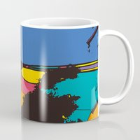 the wire Mugs featuring wire by PINT GRAPHICS