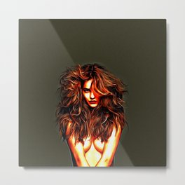 Barbara Palvin - Celebrity Art Metal Print