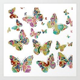 otomi butterflies Art Print