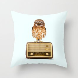 SINGING OWL Throw Pillow