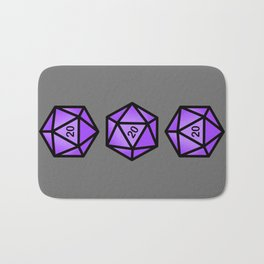 Purple d20 Bath Mat