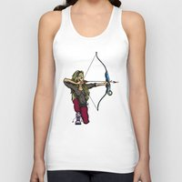 archer Tank Tops featuring Archer by Natalie Easton