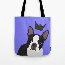 Royal Boston Terrier Tote Bag