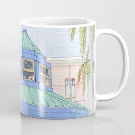 Mizner Park Boca Raton, Florida Watercolor Illustration/ Boca Raton Mizner Park Walking Street Art Coffee Mug