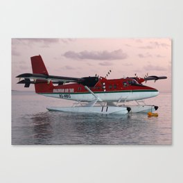 Sea Plane in twighlight Canvas Print