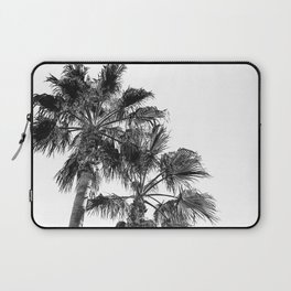 B&W Palm Tree Print | Black and White Summer Sky Beach Surfing Photography Art Laptop Sleeve