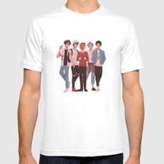 Pretty Setter Squad White MEDIUM Mens Fitted Tee
