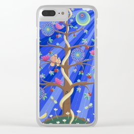 Mandala Tree of Life and Love Clear iPhone Case