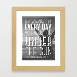 under the sun Framed Art Print