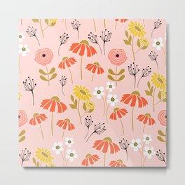 Meadow Flower Pattern 5 Metal Print