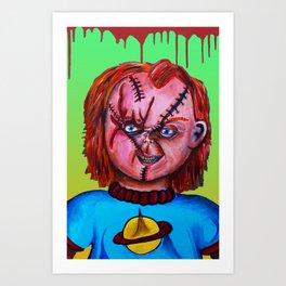 Chucky vs. Chuckie Art Print