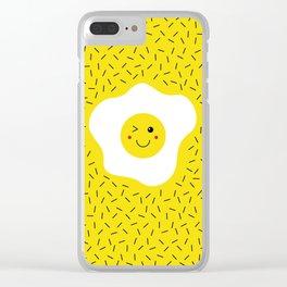 Eggs emoji Clear iPhone Case