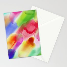 Watercolor Ink Blots Stationery Cards