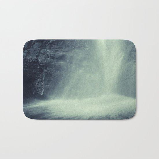 """Waterfall at the mountains"". Retro series Bath Mat"