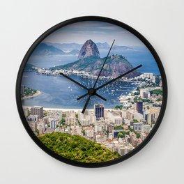 Rio De Janerio Skyline Wall Clock