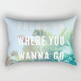 Focus On Where You Wanna Go Rectangular Pillow