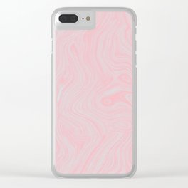 Modern abstract pink gray watercolor brushstrokes pattern Clear iPhone Case