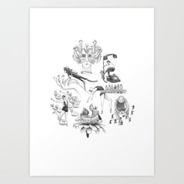 Ink Thoughts Five Art Print